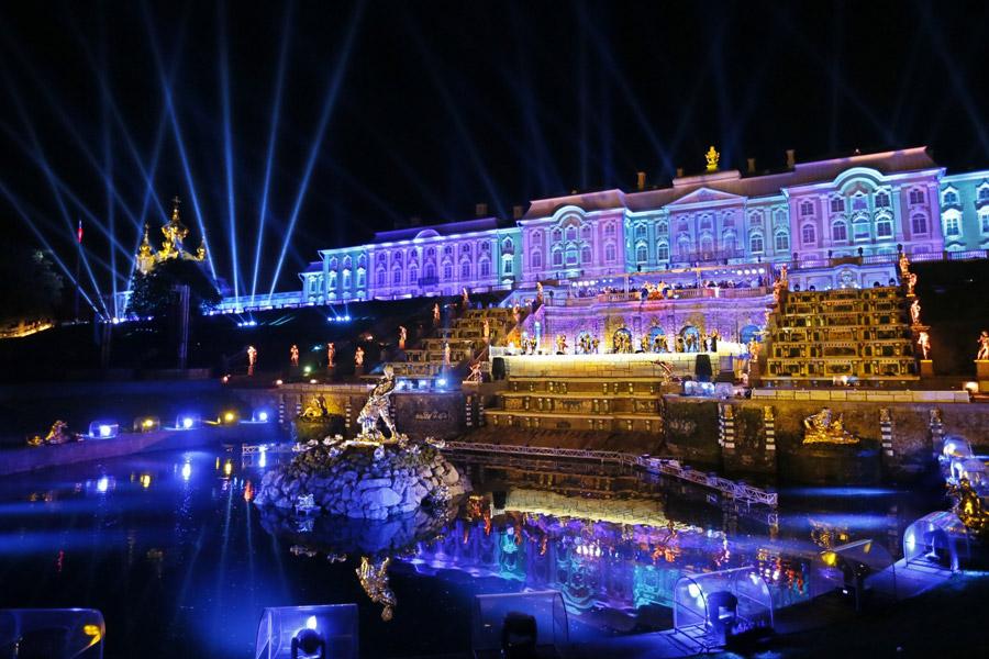 light show Russia