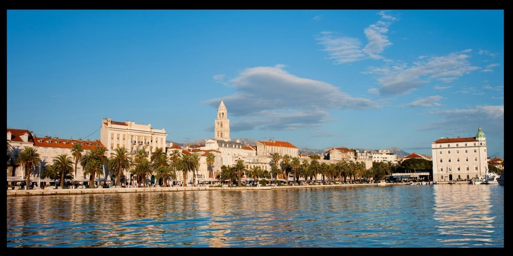 A view of Split old town in Croatia