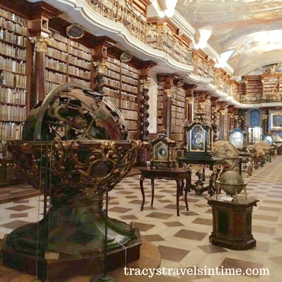 the-baroque-library in the time traveller's tale