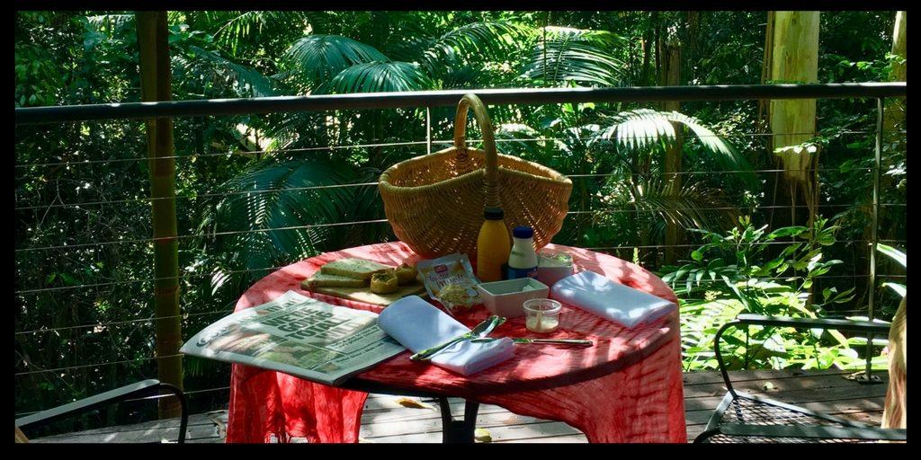 breakfast at pethers on tambourine mountain