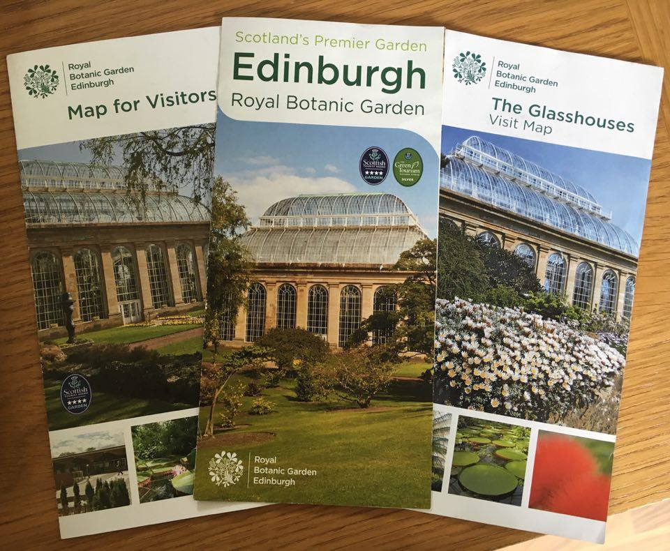 brochures for the botanical gardens