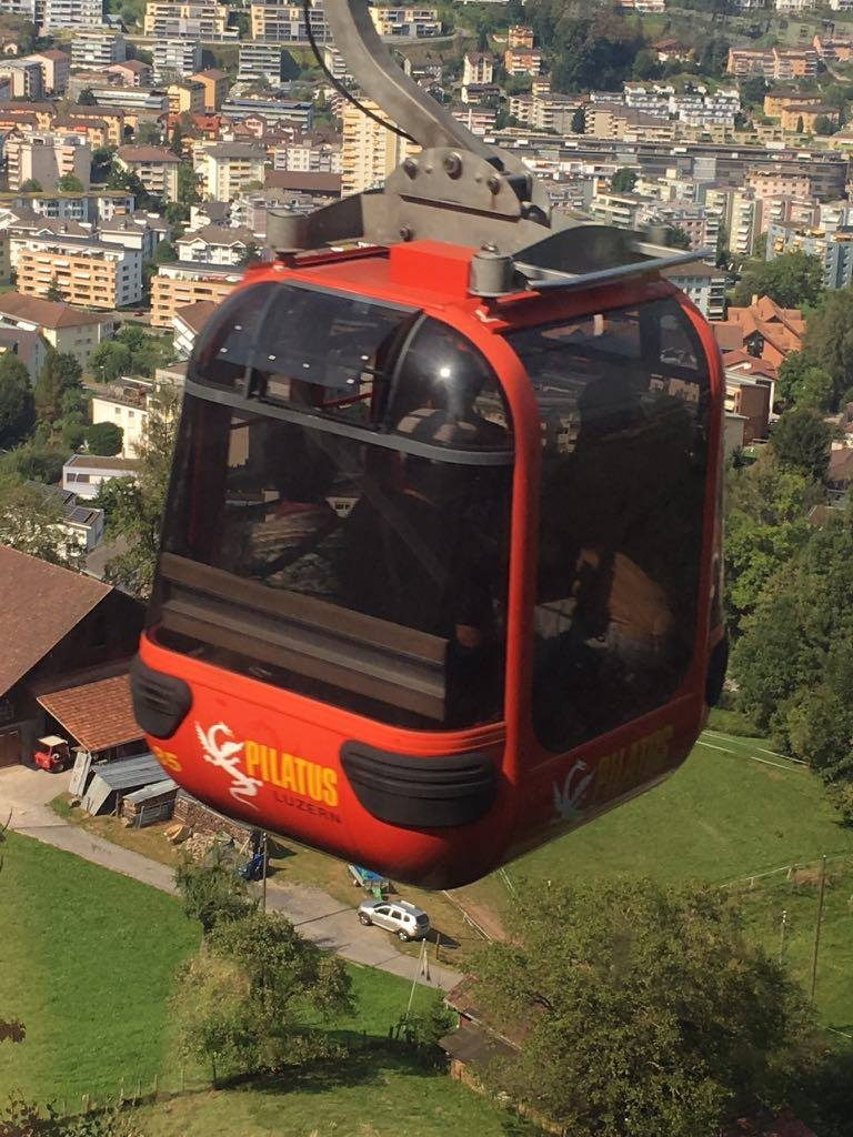 Panoramic gondola | Golden round trip to Mount Pilatus featured by top international travel blogger, Tracy's Travels in Time