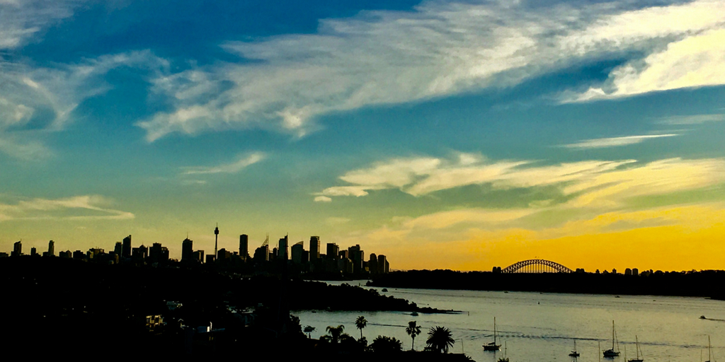 sydney sunset | 65 Things to Know Before Moving to Australia featured by top Australia travel blog, Tracy's Travels in Time
