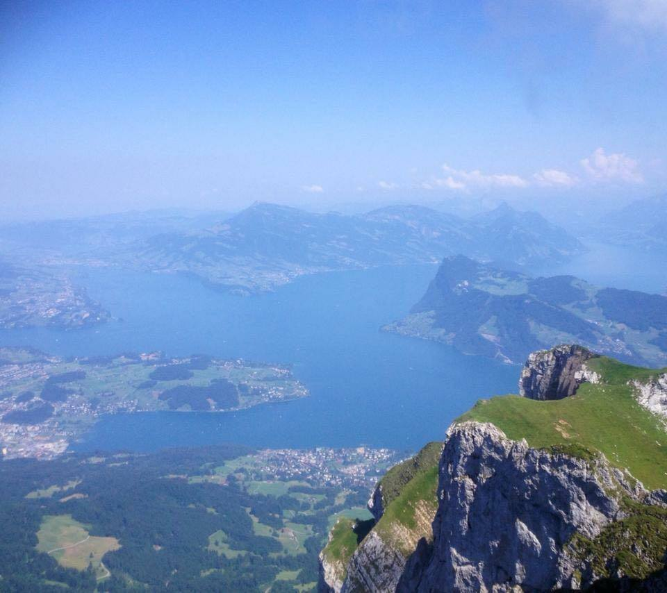 the view from the top of Mt Pilatus | Golden round trip to Mount Pilatus featured by top international travel blogger, Tracy's Travels in Time
