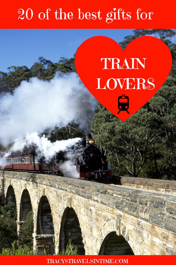 Top 20 gifts for train lovers featured by top travel blogger, Tracy's Travels in Time