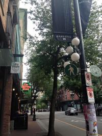 A street in Gastown in Vancouver
