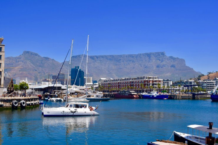 Cape Town view of table mountain