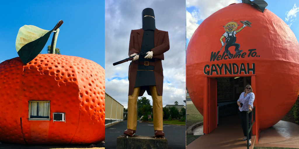 The big mandarin, ned kelly and orange in australia