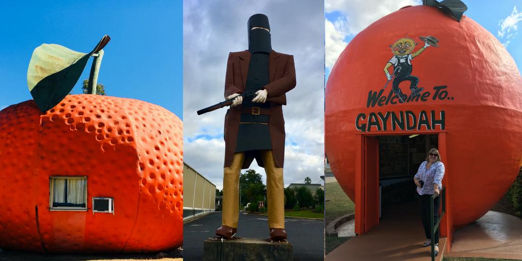 The big mandarin, ned kelly and orange in australia