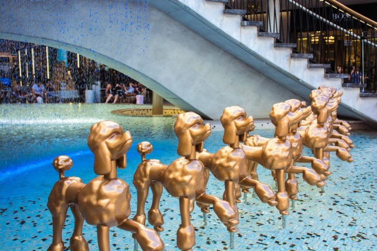 20 things to do in Queensland Australia visit the Gold Coast and see gold statues of poodles