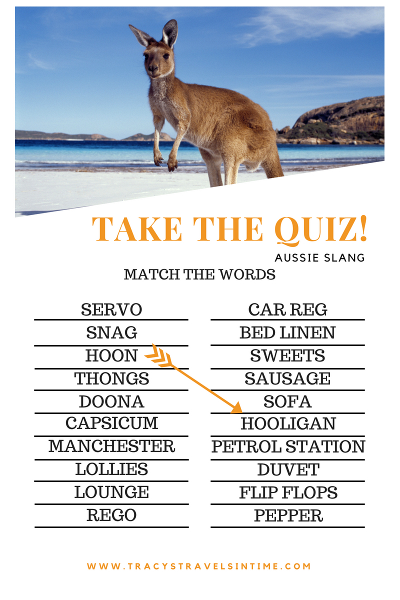 TAKE THE QUIZ ALL ABOUT AUSTRALIAN SLANG