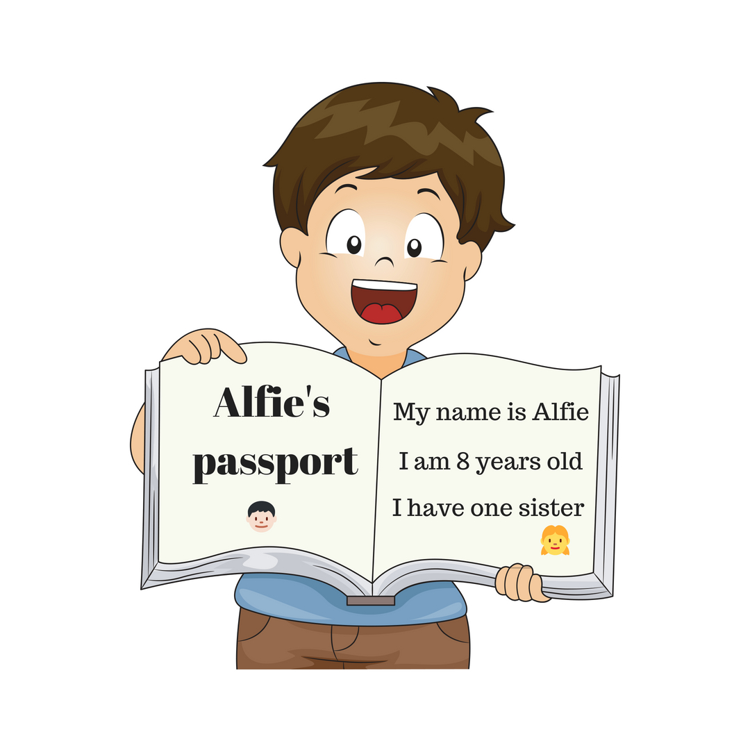 a book about me is a great way to support children emigrating