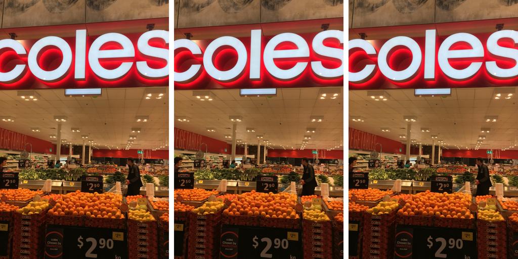 coles shop in australia