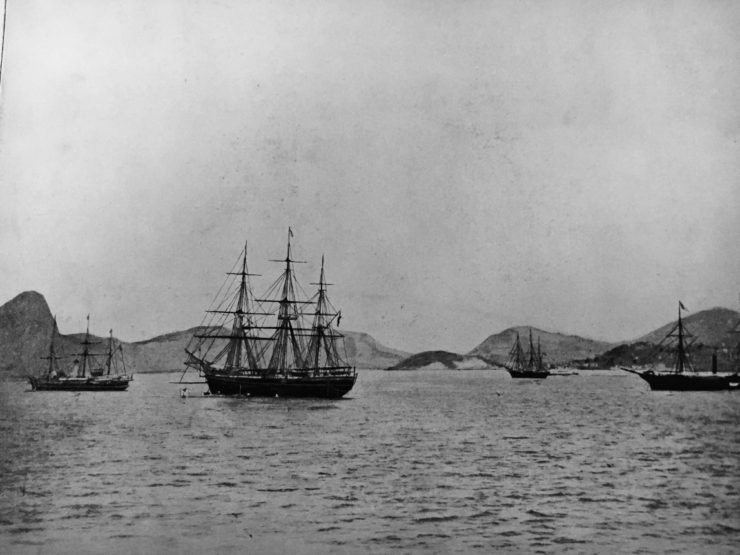 brazil rio harbour in the 1800s
