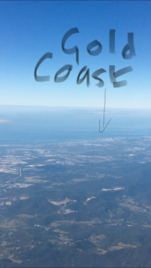 Gold Coast taken from the air