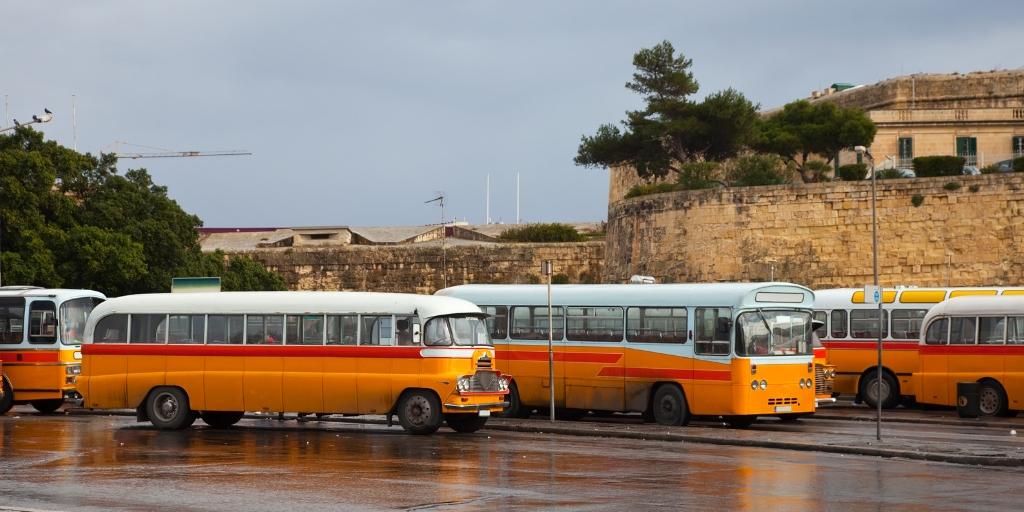 traditional maltese buses