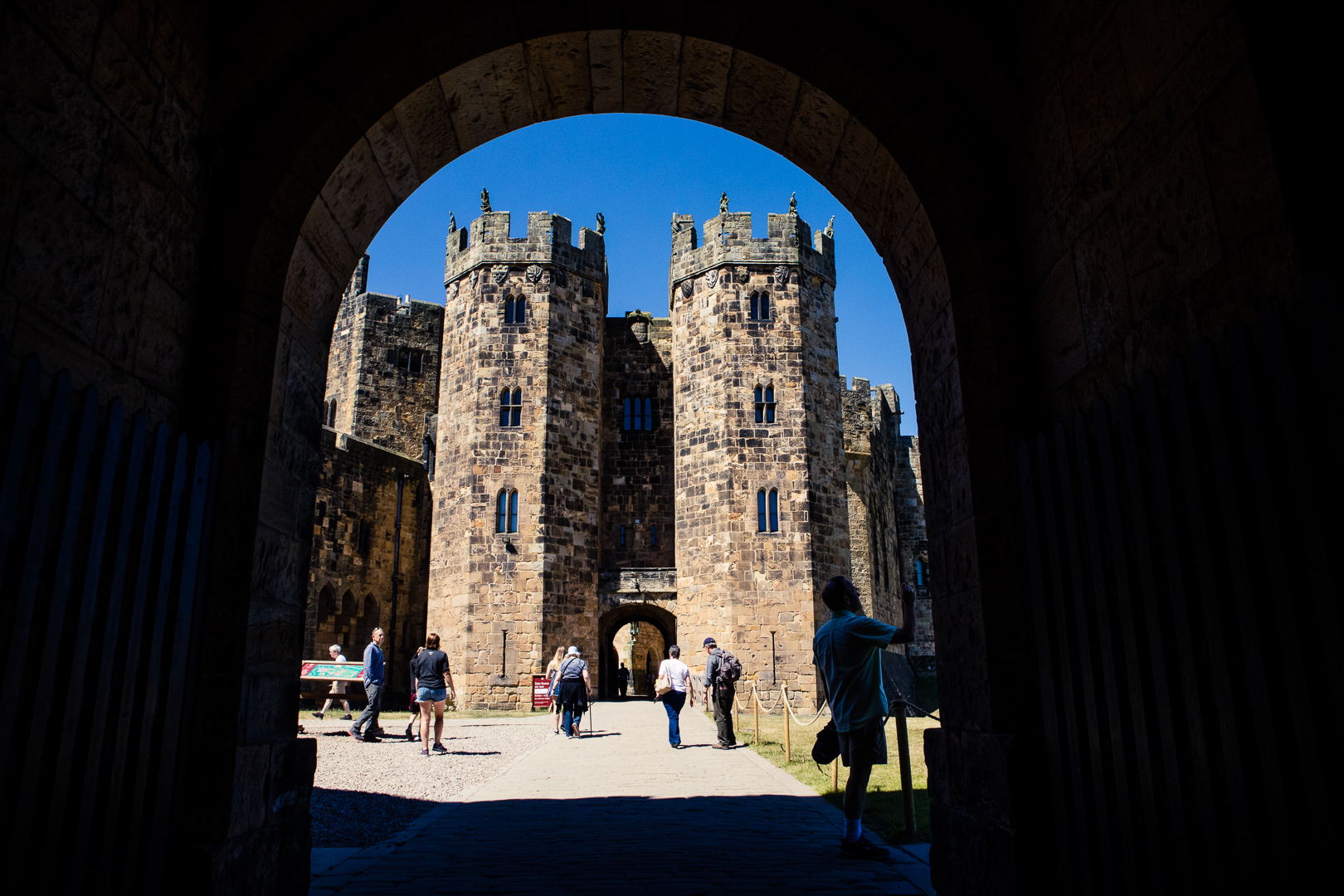 Alnwick Castle in Northumberland England