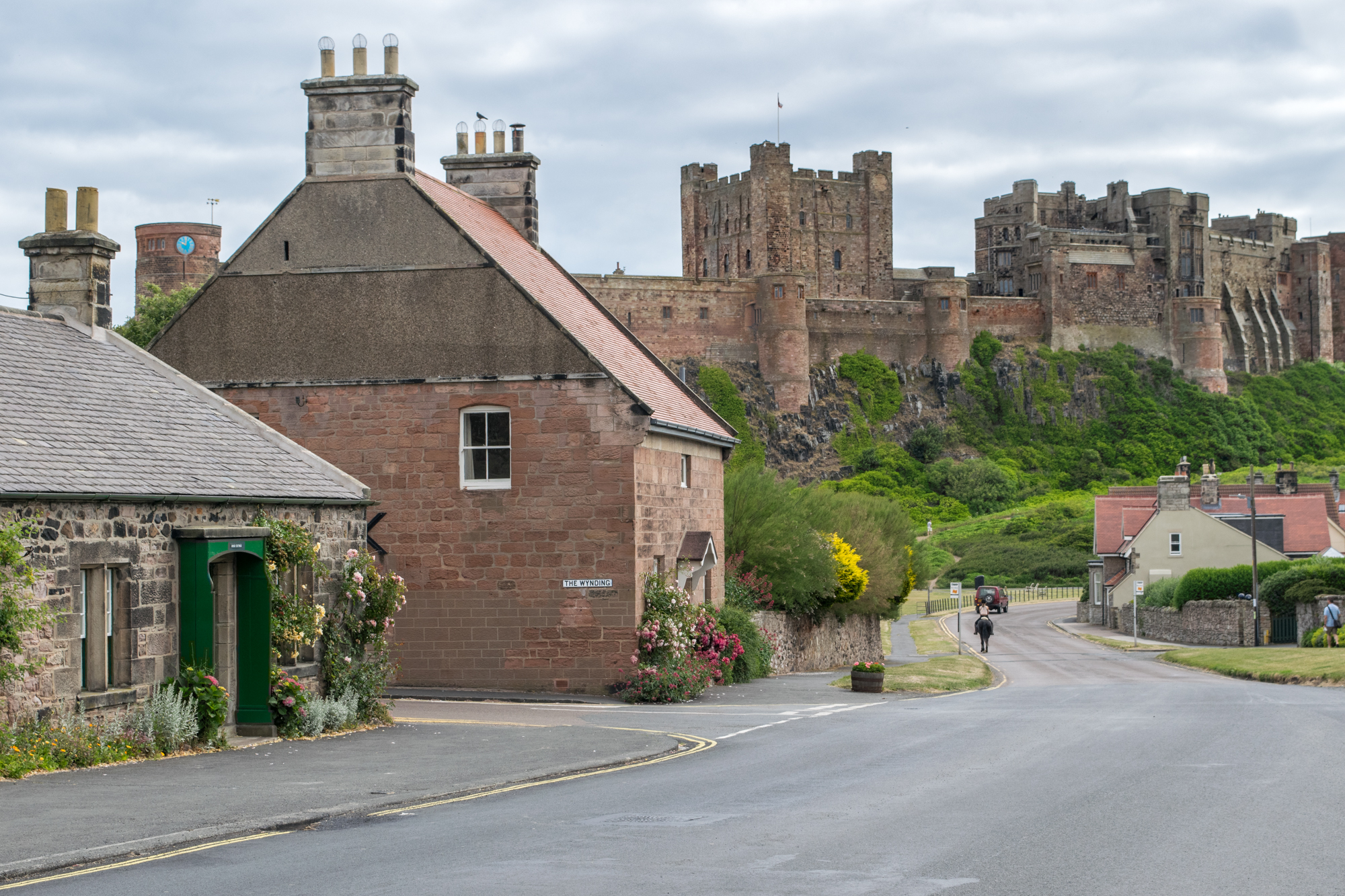 A view of Bamburgh Castle