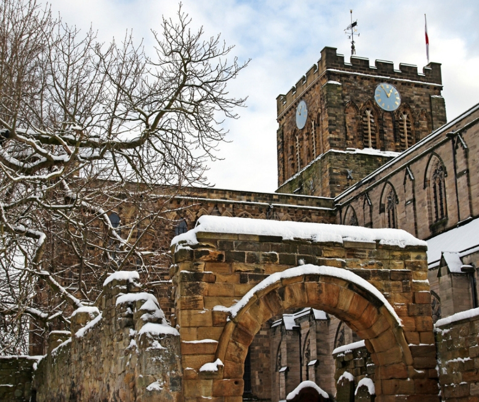 HEXHAM IN THE SNOW