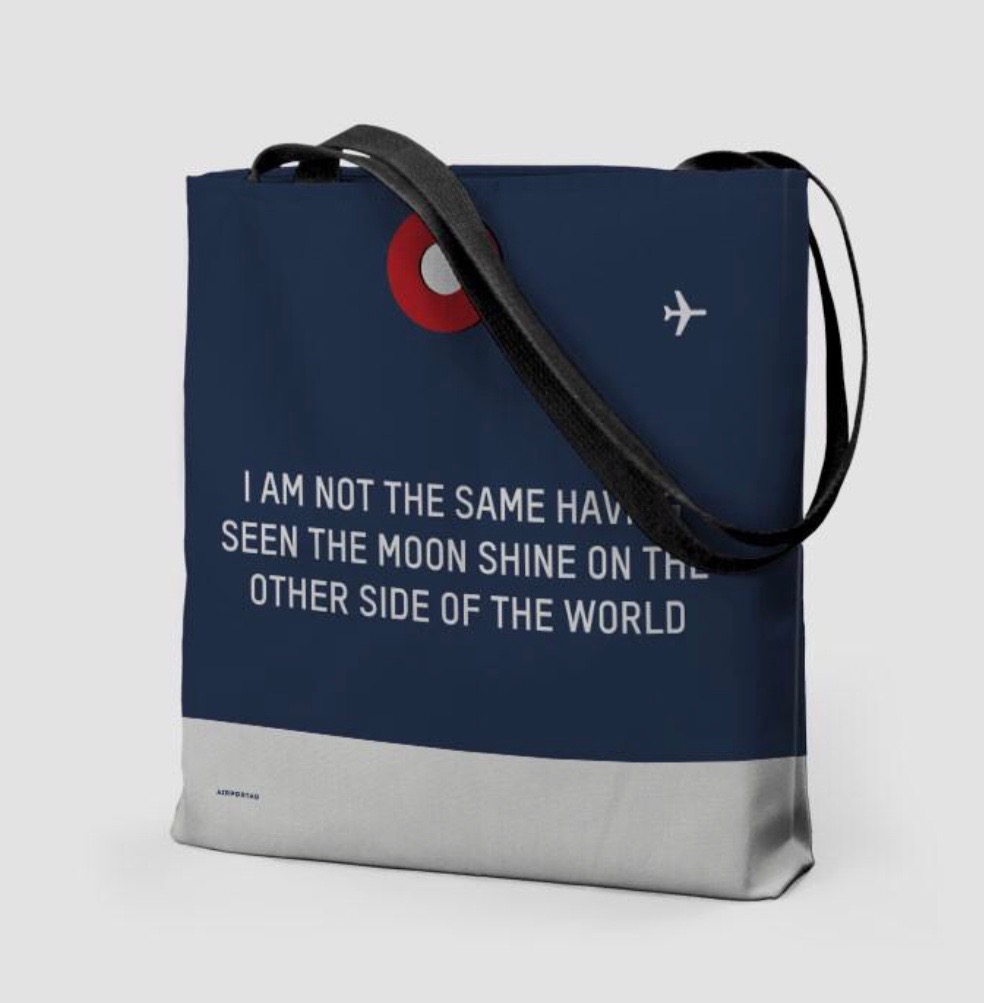 25 travel quotes inspired gifts for the travel lover in your life featured by top international travel blogger, Tracy's Travels in Time: NOT THE SAME tote bag