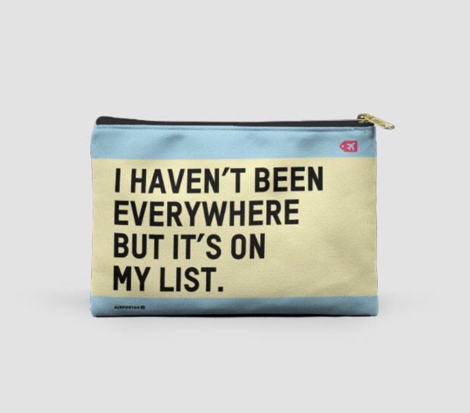 25 travel quotes inspired gifts for the travel lover in your life featured by top international travel blogger, Tracy's Travels in Time: money pouch