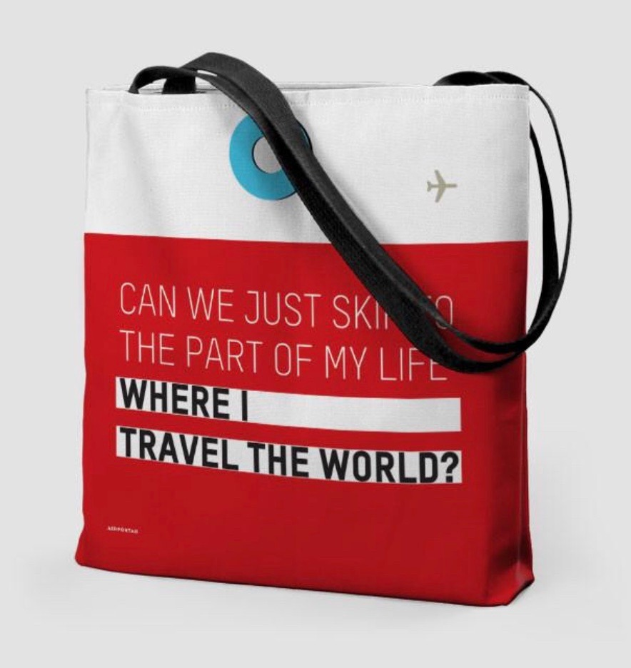 25 travel quotes inspired gifts for the travel lover in your life featured by top international travel blogger, Tracy's Travels in Time: TOTE BAG