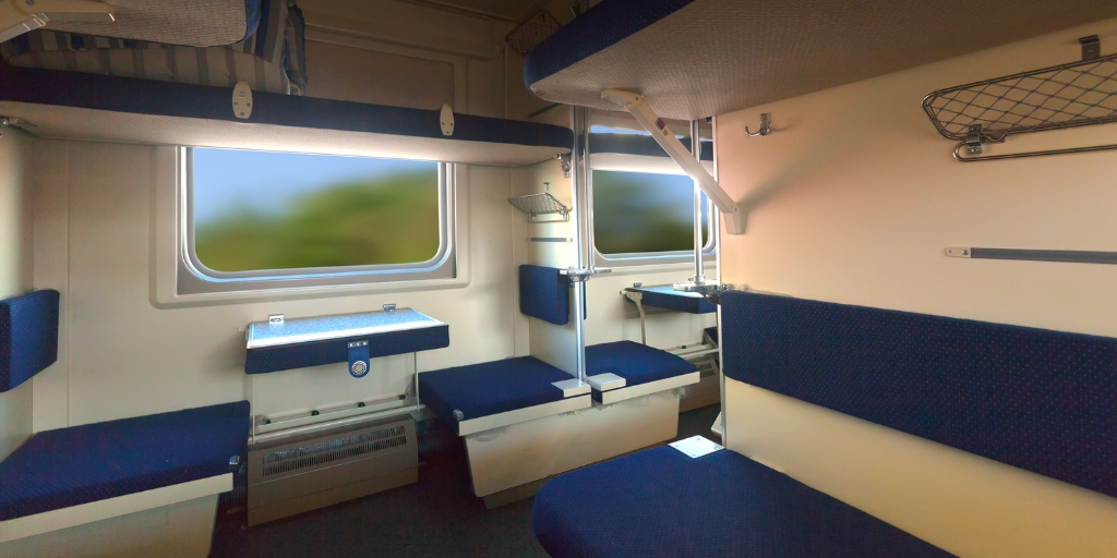 sleeper train interior