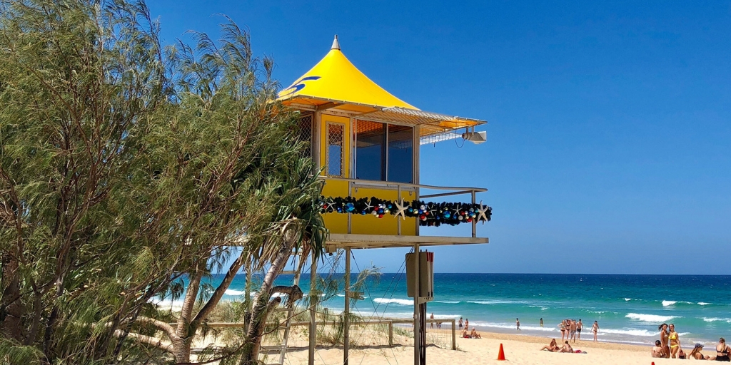 Surfers Paradise beach at Christmas