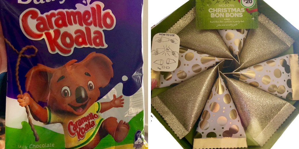 chocolate koalas and bonbons