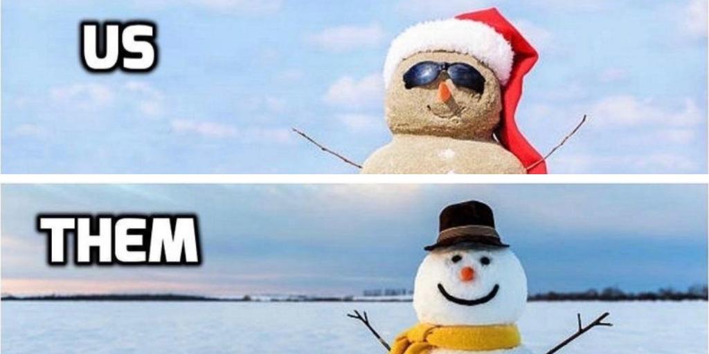 sandman and a snowman