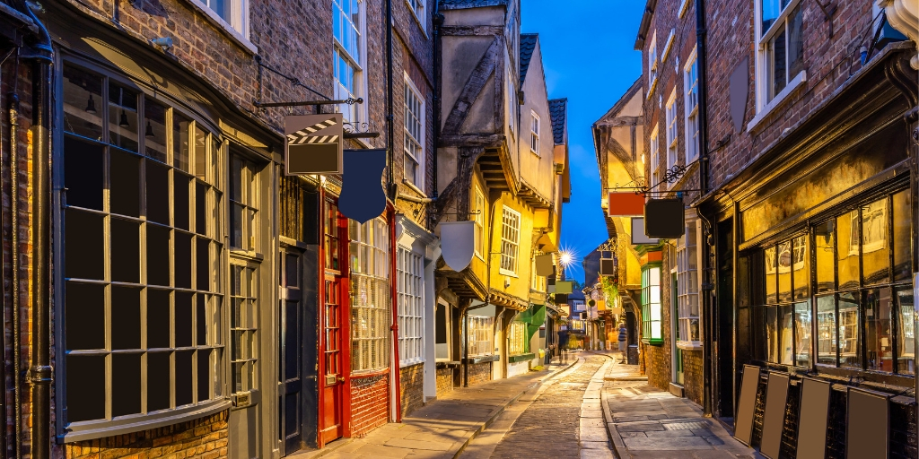 The Shambles in York England