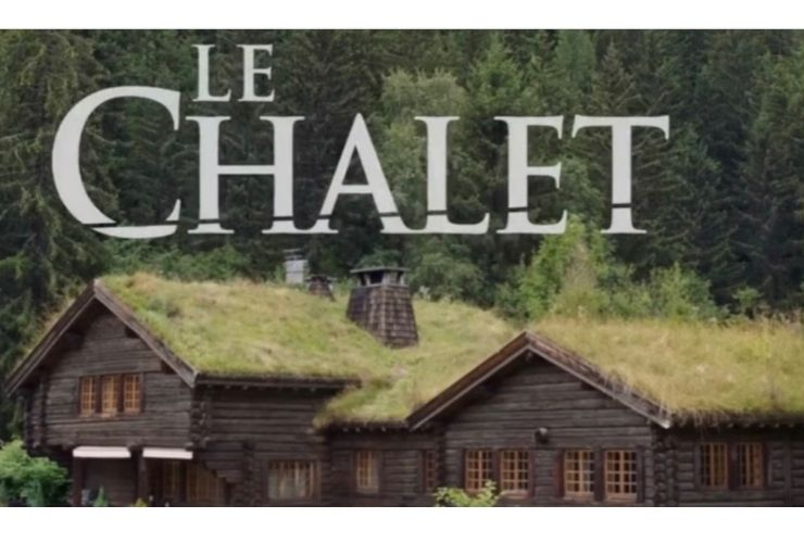 Some French chalets with the words Le Chalet written above