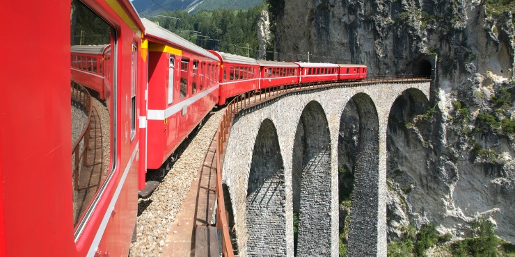 The Bernina Express train