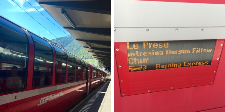 A photograph of the Bernina Express train