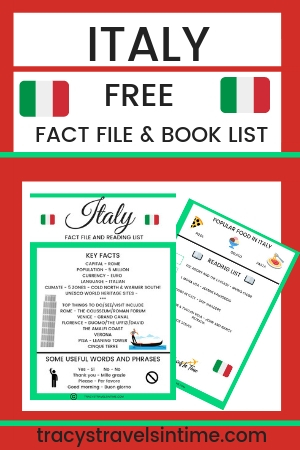 Free fact file and best book list for Italy