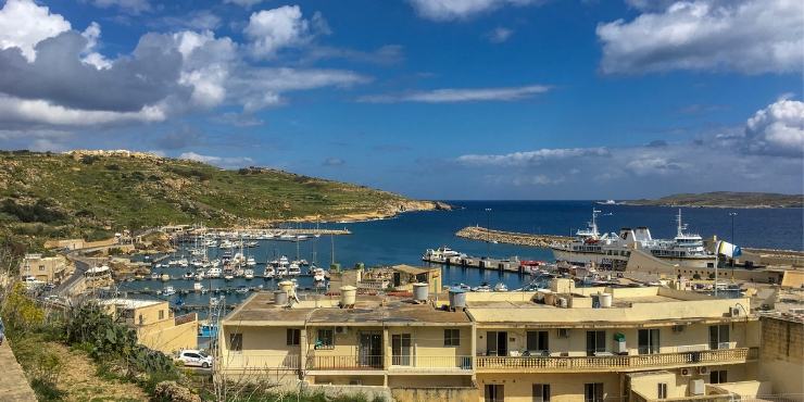 The port in Gozo