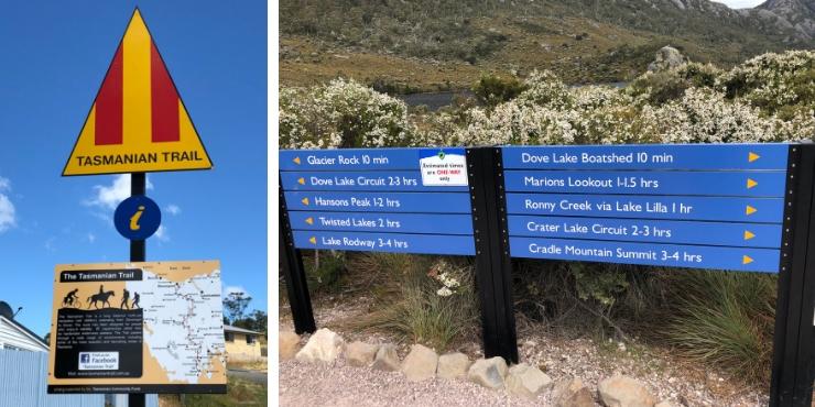 Signs in Tasmania