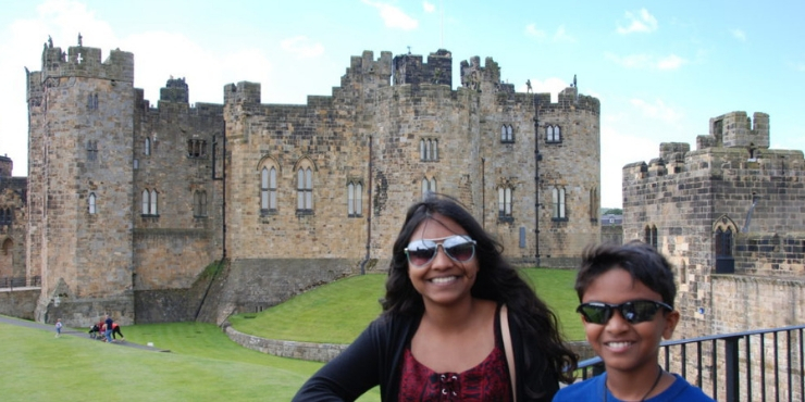 6 of the Best Northumberland Castles to Visit featured by top international travel blogger, Tracy's Travels in Time: image of Alnwick Castle Northumberland