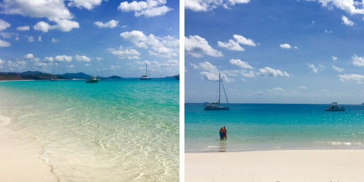 Beautiful white sands and clear seas of Whitehaven Beach