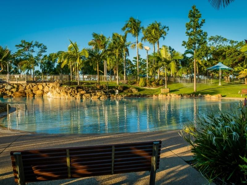 Bluewater lagoon in Mackay Queensland.