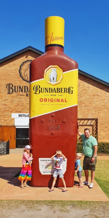 The big rum bottle in Bundaberg Australia
