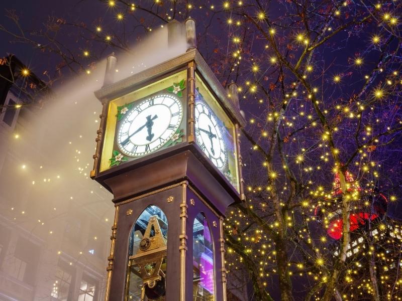 Gastown steam clock in Vancouver