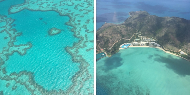 Heart reef and Whitehaven beach