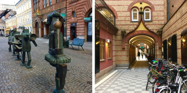 Street sculptures in Malmo
