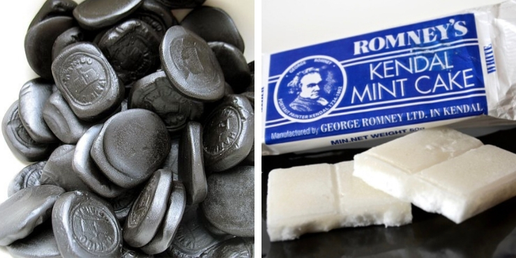 Kendal mint cake and pontefract cake