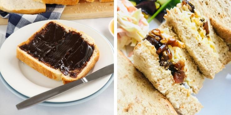 Marmite and branston pickle