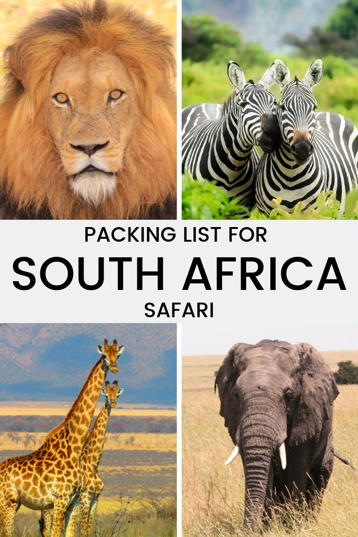 Packing list for your South African safari
