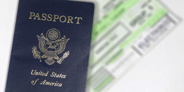 An picture of an American passport