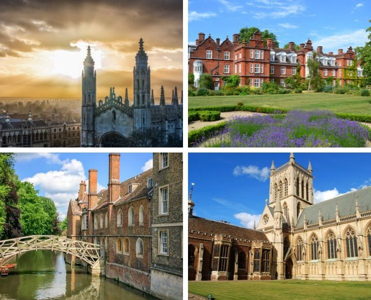 4 pictures of the English city of Cambridge
