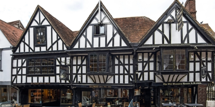 Tudor houses in the centre of Canterbury